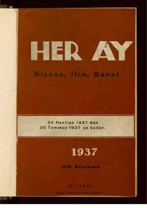 Her Ay Dergisi 20 Haziran 1937 kapağı