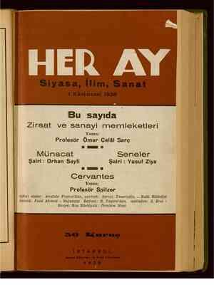 Her Ay Dergisi 1 Ocak 1938 kapağı