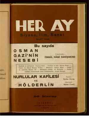 Her Ay Dergisi 7 Mart 1938 kapağı