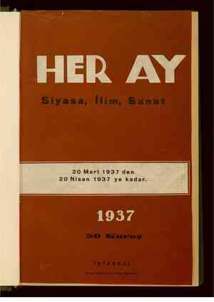 Her Ay Dergisi 20 Mart 1939 kapağı