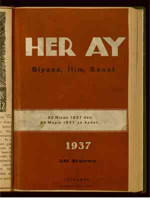 Her Ay Dergisi 20 Nisan 1939 kapağı