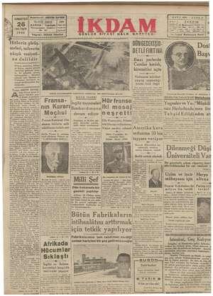amm YA CUMARTESİ Beşmukerriri: ABİDİN DAVER 2 Vinci Teşrin 1940 Cağaloğlu | Yükk Baranimeni Caddesi vara Telgraf : İKDAM