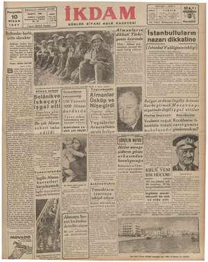 SAYI 620 — SENEZ2 Başmaharriri: ABİDİN DAVER DİKKAT TAKVİM TELEFON: 23300 ABONE Gazeteye Xu: 1941 — Ay: 4 Gün: 100 1200...