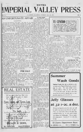 Imperial Valley Press Gazetesi July 25, 1907 kapağı