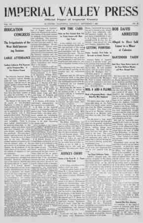 Imperial Valley Press Gazetesi September 7, 1907 kapağı