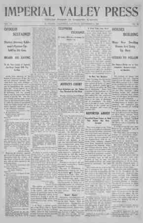 Imperial Valley Press Gazetesi September 14, 1907 kapağı