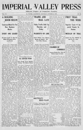 Imperial Valley Press Gazetesi October 19, 1907 kapağı