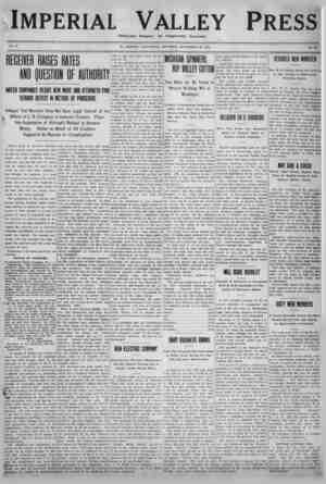 Imperial Valley Press Gazetesi 24 Eylül 1910 kapağı