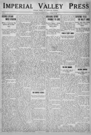 Imperial Valley Press Gazetesi 22 Ekim 1910 kapağı