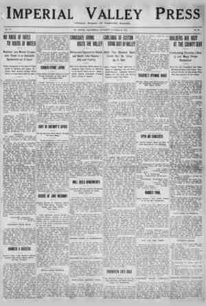 Imperial Valley Press Gazetesi 29 Ekim 1910 kapağı