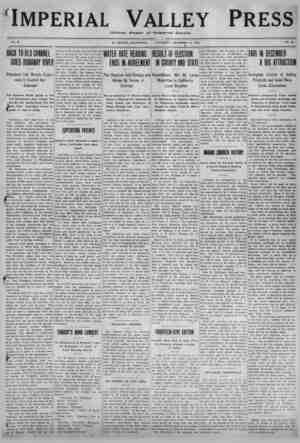 Imperial Valley Press Gazetesi 12 Kasım 1910 kapağı