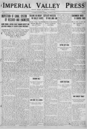 Imperial Valley Press Gazetesi 19 Kasım 1910 kapağı