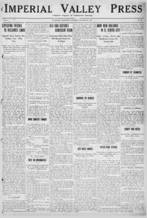 Imperial Valley Press Gazetesi 26 Kasım 1910 kapağı