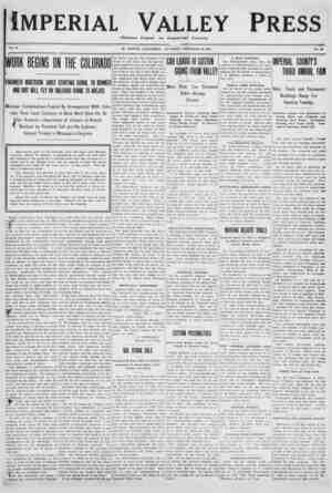 Imperial Valley Press Gazetesi 10 Aralık 1910 kapağı