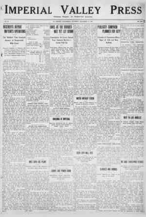 Imperial Valley Press Gazetesi 24 Aralık 1910 kapağı