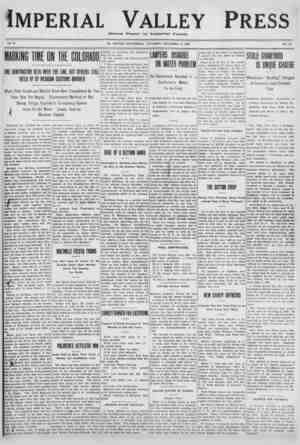 Imperial Valley Press Gazetesi 31 Aralık 1910 kapağı