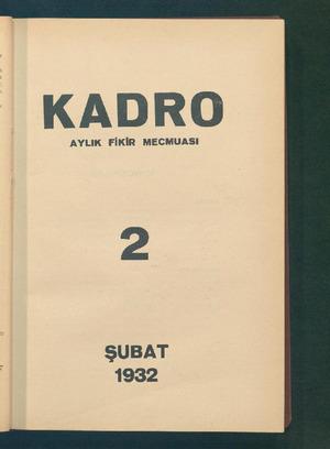 Kadro Dergisi 1 Şubat 1932 kapağı