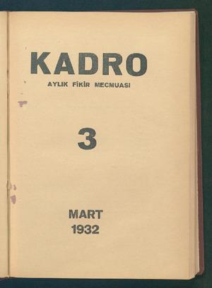 Kadro Dergisi 1 Mart 1932 kapağı