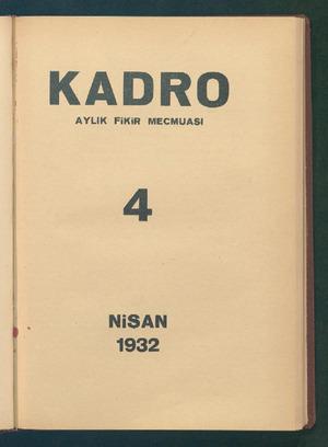 Kadro Dergisi 1 Nisan 1932 kapağı