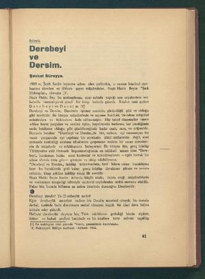 Iı'î.ıleîik_. Derebheyi ve Dersim. Şevket Süreyya. 1925 te, Şeyh Saidin isyanıma sahne olan yerleridem, ©0 zamüan İstanbul