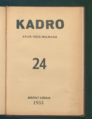 KADRO AYLIK FİKİR MECMUASI 24 BİRİNCİ KÂNUN 1953 ...