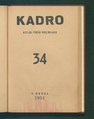 AYLIK FİKİR MECMUASI J4 K EVYVEL 1934 ...