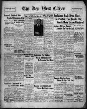 The Key West Citizen Gazetesi 3 Ekim 1932 kapağı