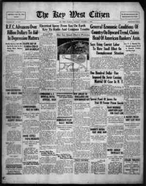 The Key West Citizen Gazetesi 4 Ekim 1932 kapağı