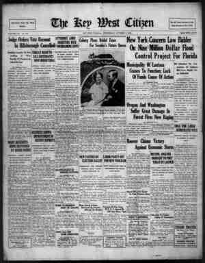The Key West Citizen Gazetesi 5 Ekim 1932 kapağı
