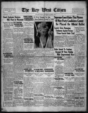 The Key West Citizen Gazetesi 6 Ekim 1932 kapağı