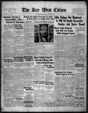 The Key West Citizen Gazetesi 7 Ekim 1932 kapağı