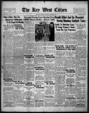 The Key West Citizen Gazetesi 8 Ekim 1932 kapağı