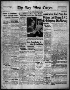 The Key West Citizen Gazetesi 12 Ekim 1932 kapağı