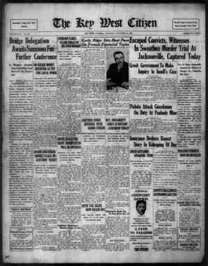 The Key West Citizen Gazetesi 13 Ekim 1932 kapağı