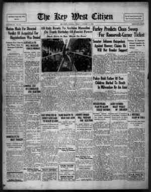 The Key West Citizen Gazetesi 14 Ekim 1932 kapağı