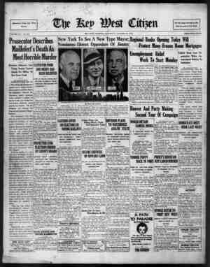 The Key West Citizen Gazetesi 15 Ekim 1932 kapağı