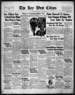 The Key West Citizen Gazetesi 17 Ekim 1932 kapağı