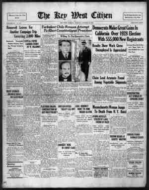 Associated Press Day Wirs Service VOLUME LIII. No. 247. Roosevelt Leaves For Another Campaign Trqi Covering 3,000 Miles...