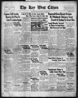 The Key West Citizen Gazetesi 19 Ekim 1932 kapağı