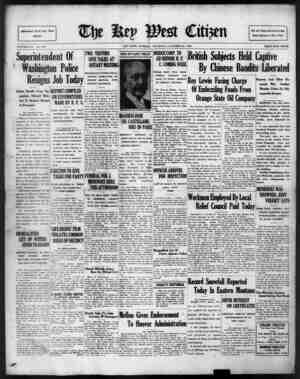The Key West Citizen Gazetesi 20 Ekim 1932 kapağı