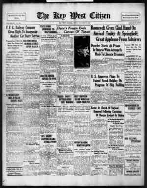 The Key West Citizen Gazetesi 21 Ekim 1932 kapağı