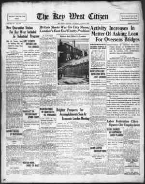 Associated Press Day Wire Service VOLUME LIV. No. 148. New Quarantine Station For Key West Included In Industrial Program...