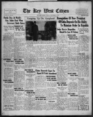 Associated Press Day Wire Service VOLUME LIV. No. 215. Florida Day At World's Fair; Salute Fired When Governor Sholtz Enters