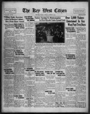 Associated Press Day Wire Service VOLUME LIV. No. 251. William Doak, Secretary Labor In Hoover Cabinet, Dies From Heart...