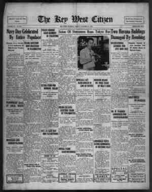 Associated Press Day Wire Service VOLUME LIV/. No. 255. Navy Day Celebrated By Entire Populace Occasion Also Seventy- Fifth