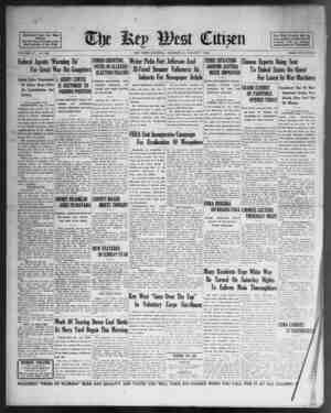 Associated Press Day Wirt Service. \ - For 5% Years Devoted to tbs Bert Interests of Key West VOLUME LV. No. 182. Federal...