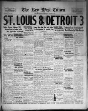 AaocUted Preaa Daj Win Service. For be Veen Devoted to the Beet Interests of Key West VOLUME LV. No. 235. ST. LOUIS a DETROIT