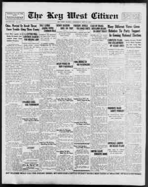 Associated Press Day Wire Service. For 56 Years Deyoted to the Best Interests of Key West VOLUME LVII. No. 174. China,...