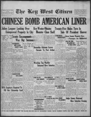 Associated Press Day Wire Service. For 57 Years Devoted to the Best Interests of Key West VOLUME LVIII. No. 206. CHINESE BOMB