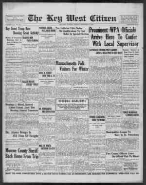 Associated Press Day Wire Service. For 57 Years Devoted to the Best Interests of Key West VOLUME LVIII. No. 278. Boy Scout
